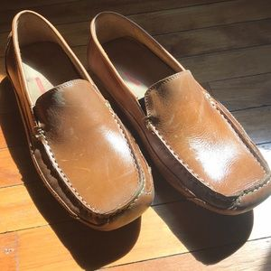 Brown leather size 8 Rockport dress shoes.